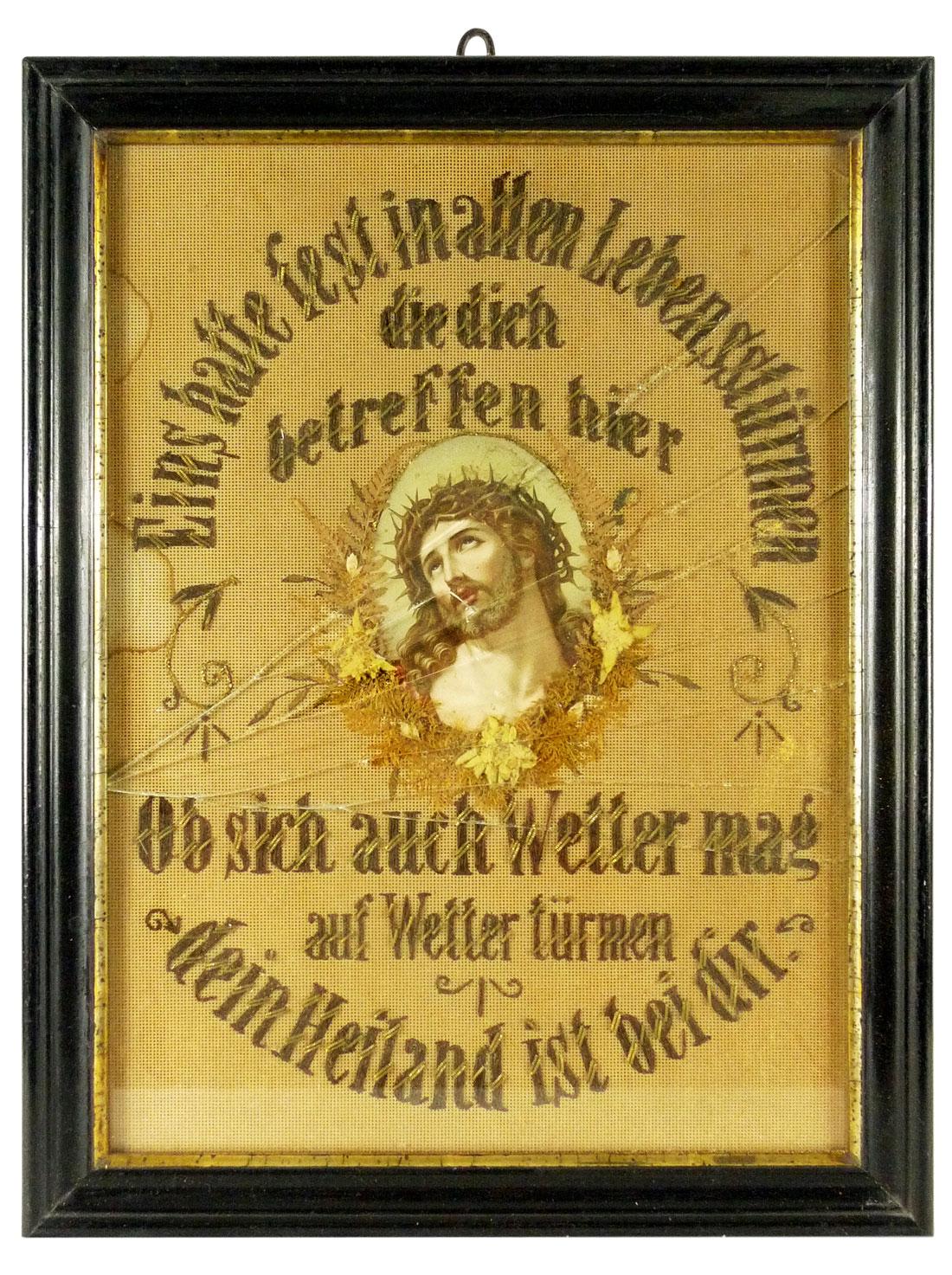 Jesus, Haussegen, Handarbeit