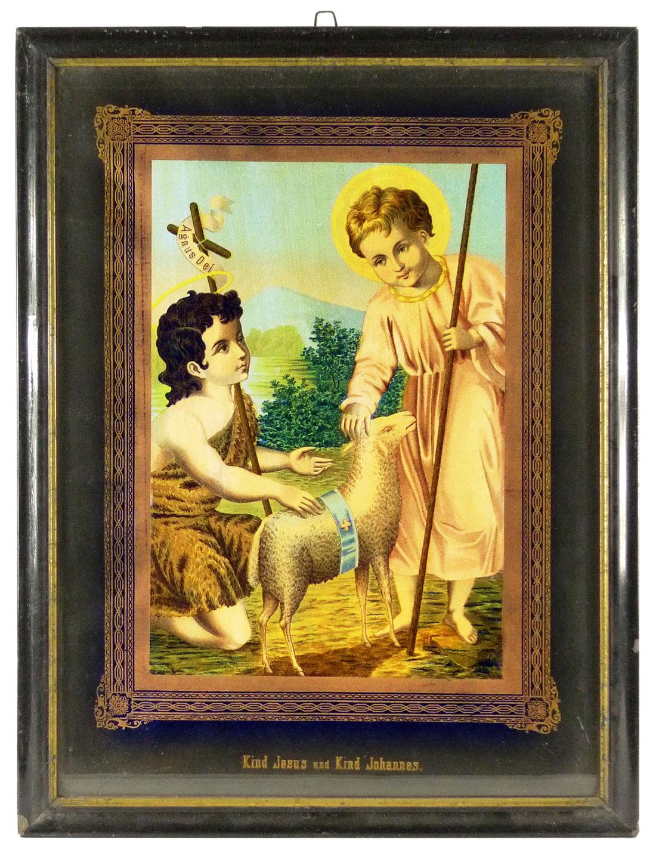 Bild, Kind Jesus und Kind Johannes der Täufer