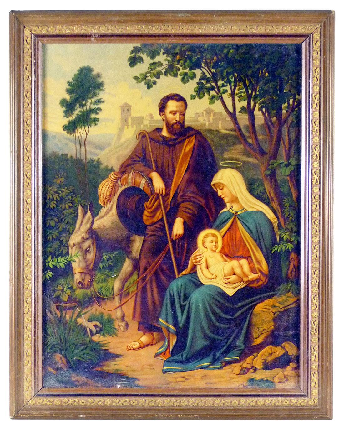 Bild, Jesus Maria und Joseph auf der Flucht nach Ägypten