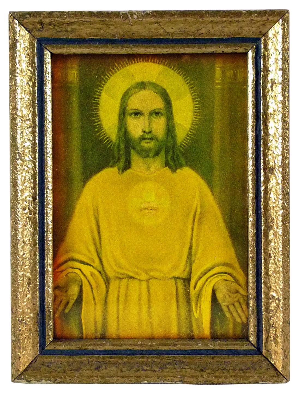 Jesus Bild im Goldrahmen