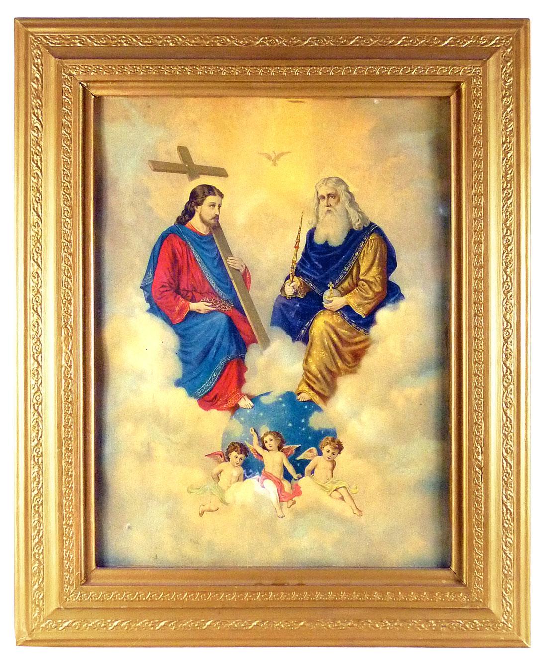 Bild, Jesus und Gott posieren über der Erde
