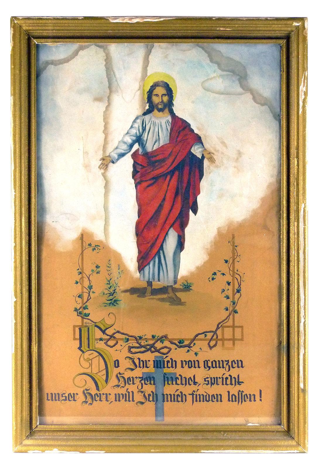 Gemälde, Jesus von K. Gebhart 1950