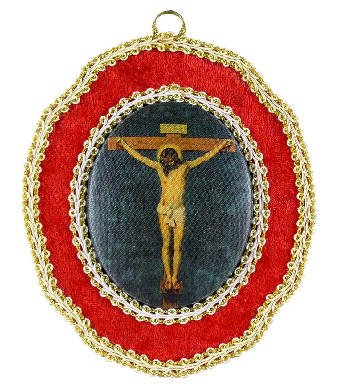 Bild, Jesus am Kreuz, Handarbeit