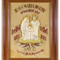 Bild Jesus, Maria und Joseph, Handarbeit, Haussegen