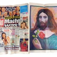Jesus Poster in der Bildzeitung
