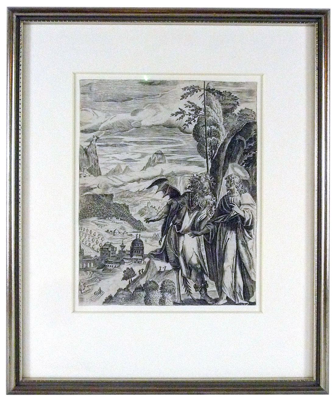 Die Letzte Versuchung Christi, Kupferstich aus dem 17. Jahrhundert
