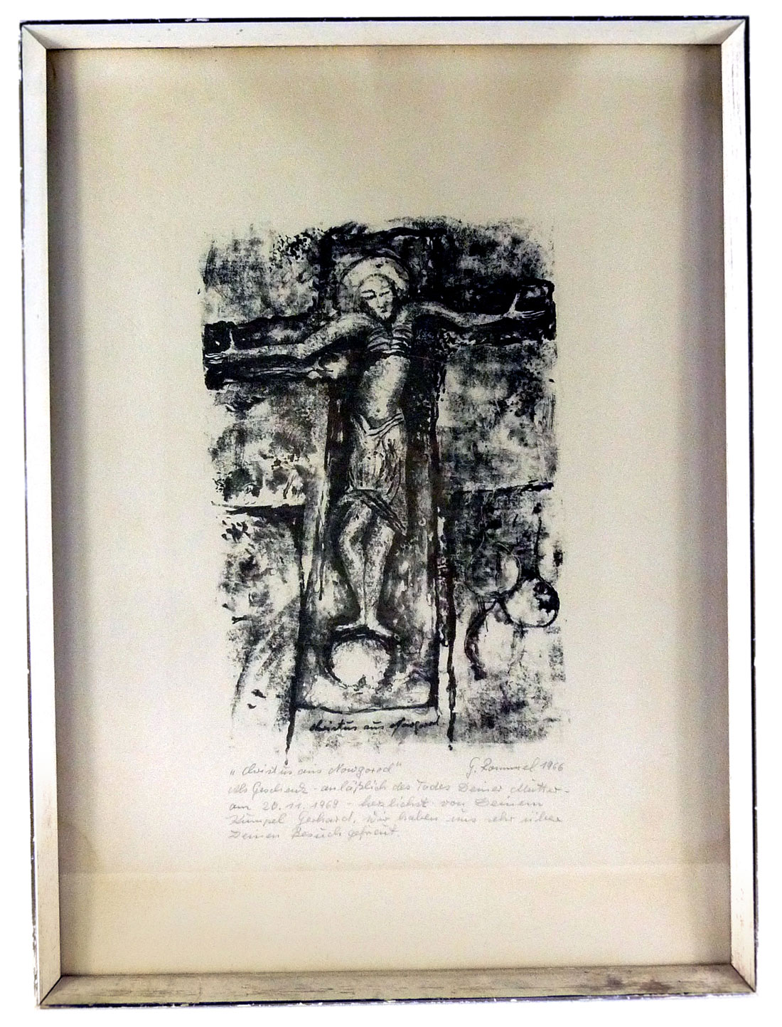 Christus aus Nowgorod, Lithographie von Gerhard Rommel