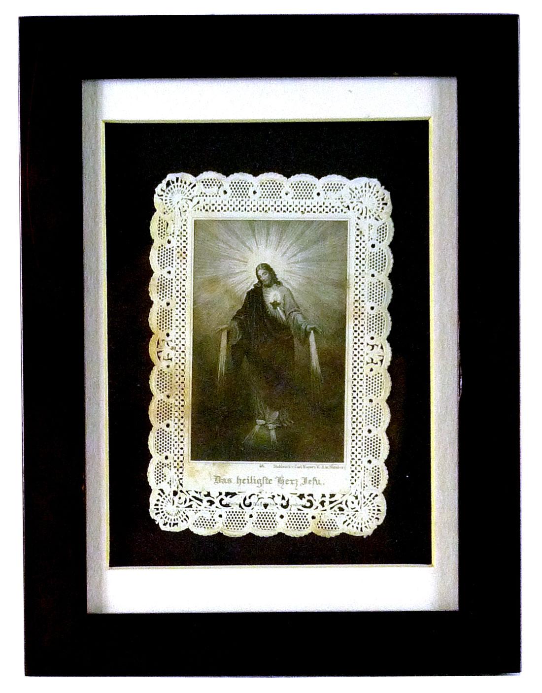 Bild in Papierspitze, Motiv Das Heiligste Hetz Jesu