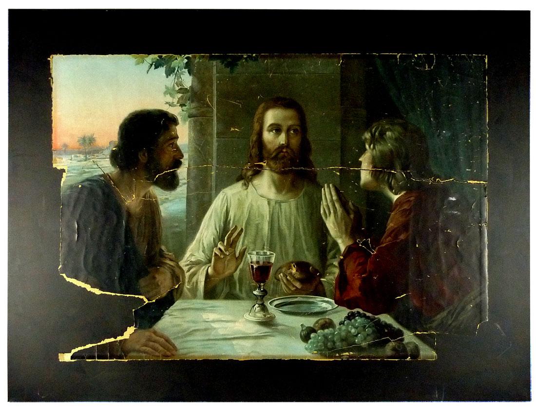 Jesus und zwei Jünger in Emaus