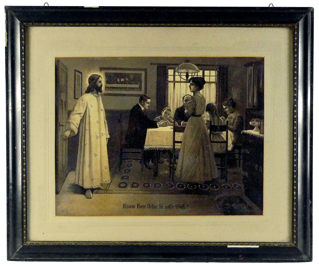 Bild, Jesus bei moderner Familie