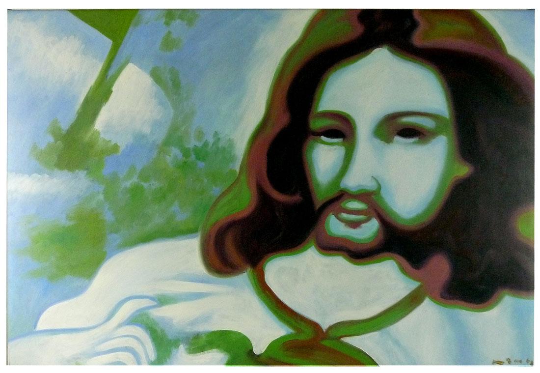 Gemälde Jesus psychedelisch