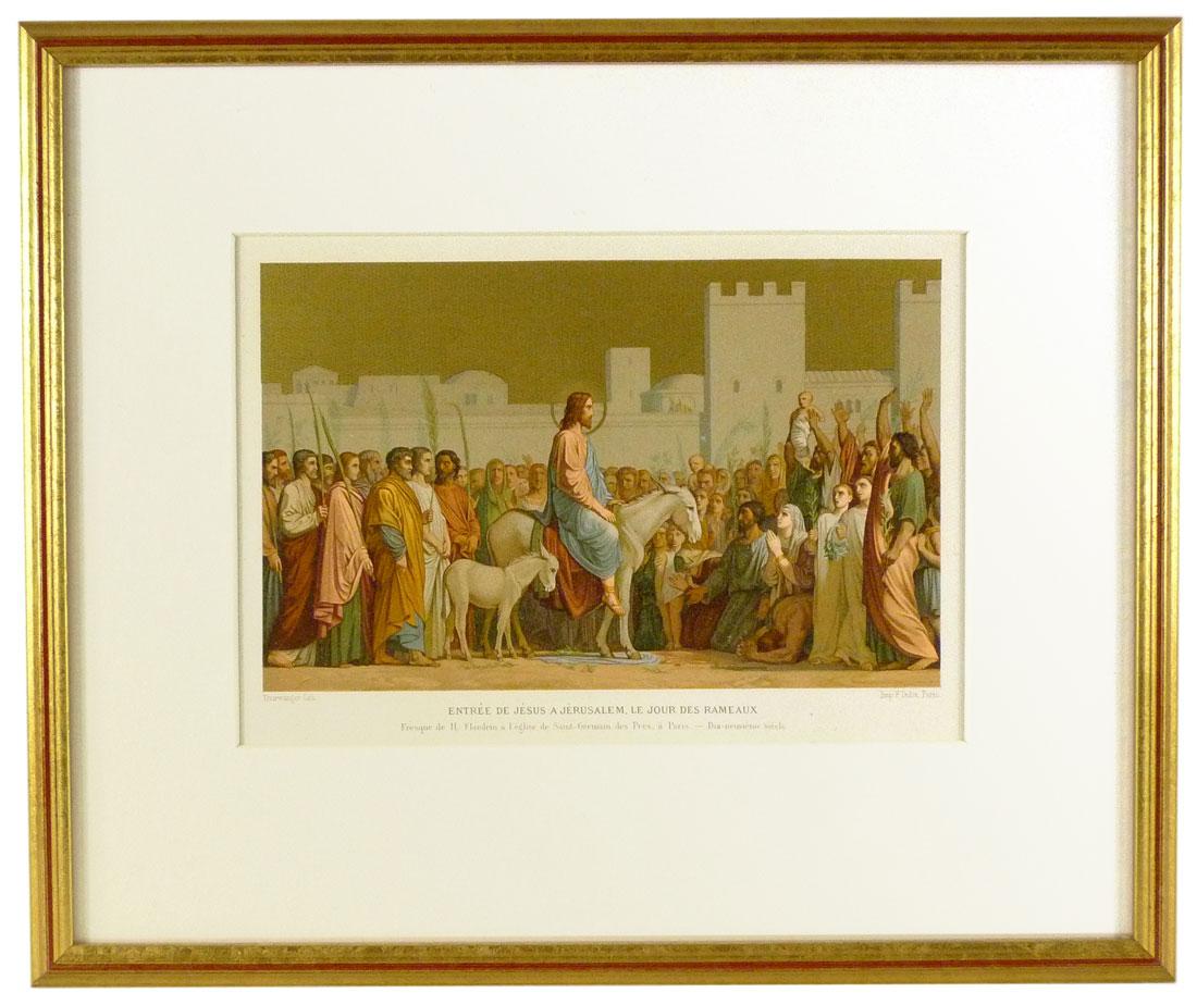 Bild mit Jesus, Einzug nach Jerusalem