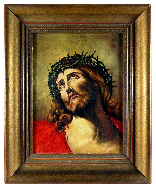 Ölgemälde Jesus, Kopie eines Motivs von Guido Reni