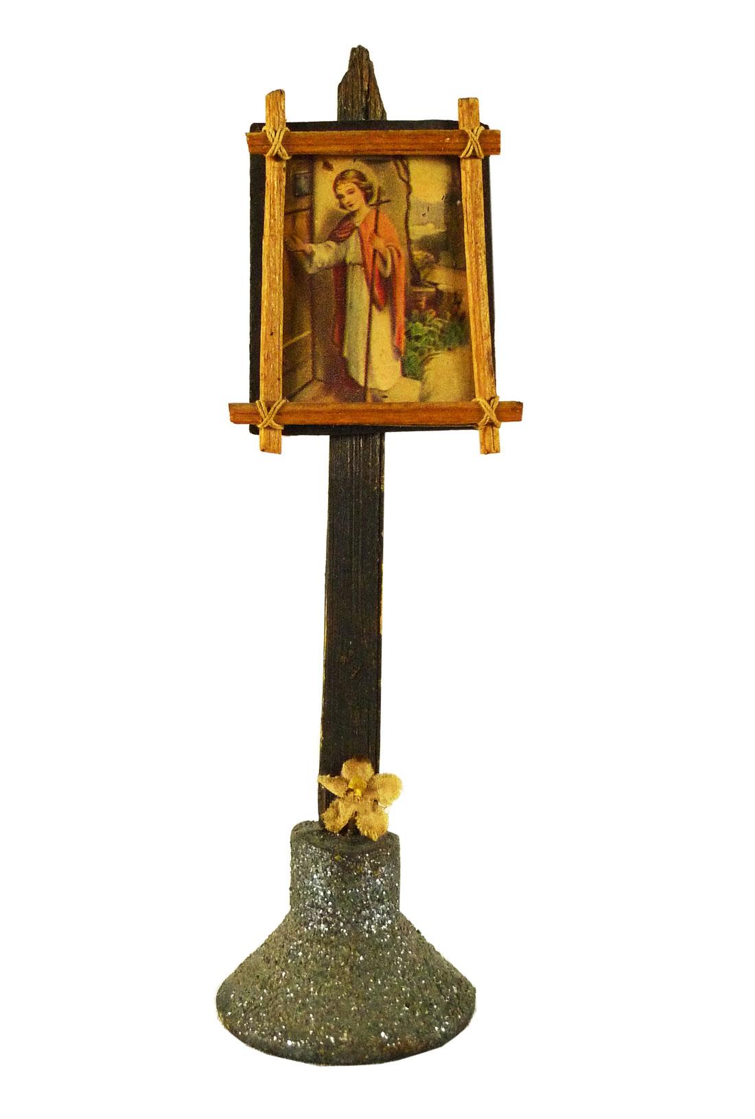 Handgemachtes Objekt mit Jesus-Motiv