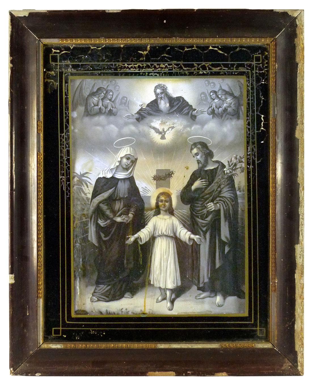Bild mit Maria, Joseph und Jesus als Kind von ungefähr 8 Jahren