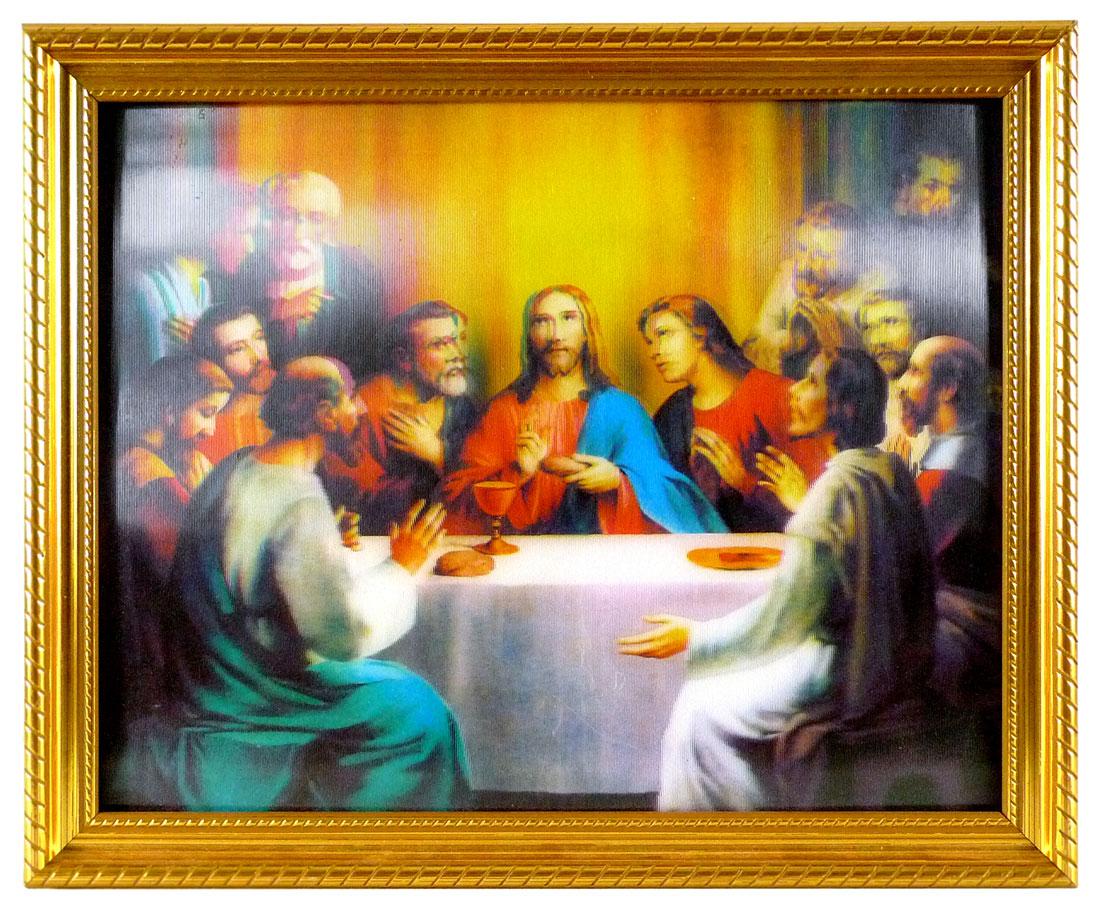 Jesus Hologramm-Bild Abendmahl
